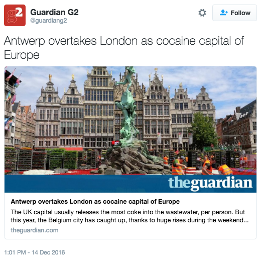 Antwerp overtakes London as cocaine capital of Europe